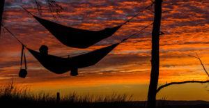 Hamaka nabízí pohodlný spánek mezi stromy na úkor volného prostoru