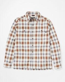 Pánská košile Marmot Movatn Heavywt Flannel LS Velikost: L / Barva: hnědá